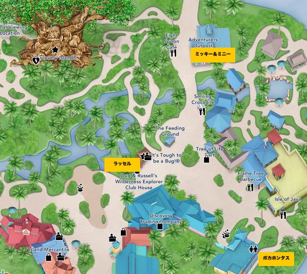 アニマルキングダム キャラクターグリーティング 地図