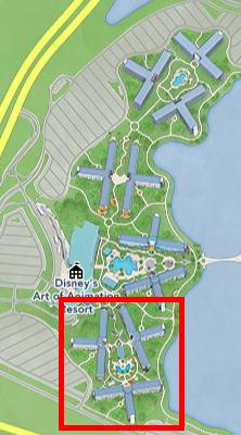ホテル カーズ棟 位置 マップ