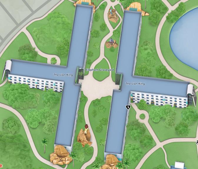 ホテル ライオンキング棟 マップ2