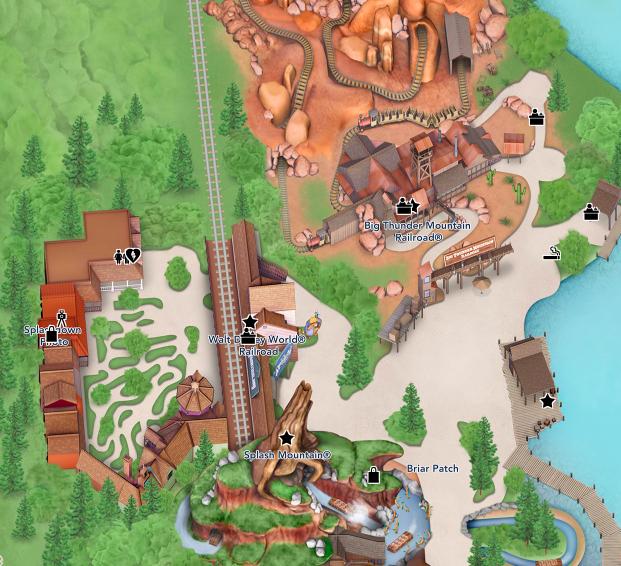 マジックキングダム ビッグサンダーとスプラッシュ マップ