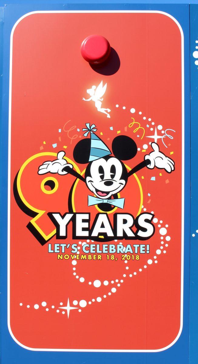 東京ディズニーランド ミッキー90周年装飾  壁4