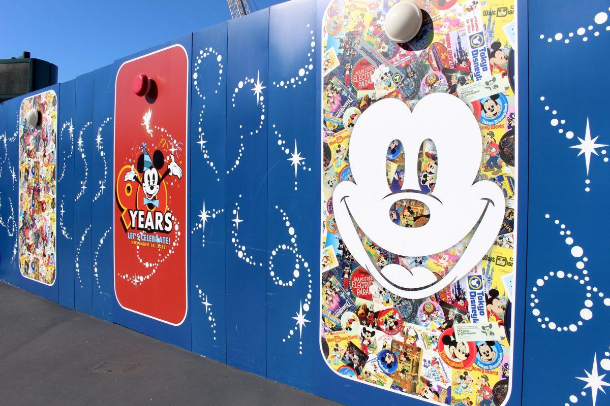 東京ディズニーランド ミッキー90周年装飾 壁8